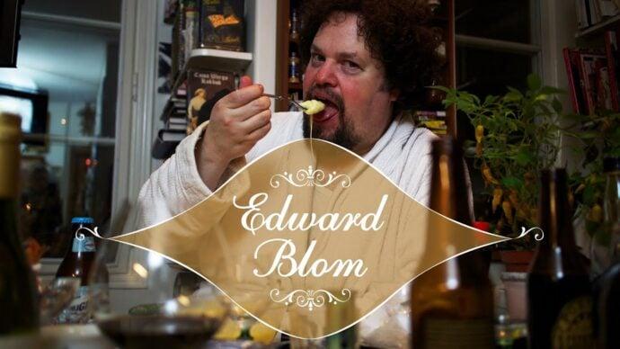 Edward Blom visar hur man gör baksmälleost